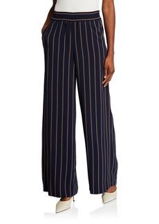 Lafayette 148 Hester Studio Stripe Drape Cloth Pants