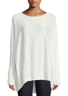 Lafayette 148 High-Low Dolman-Sleeve Sweater