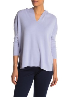 Lafayette 148 Hooded V-Neck Sweater