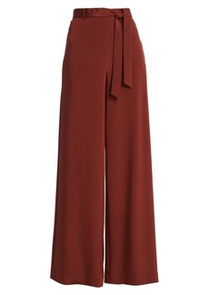 Lafayette 148 Jackson Stretch Silk Wide-Leg Pants