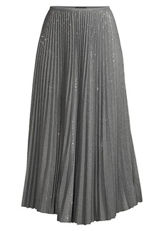 Lafayette 148 Jahira Pleated Sequin Skirt