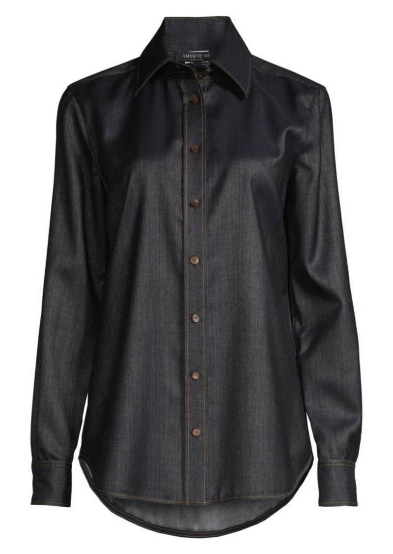 Lafayette 148 James Chambray Shirt
