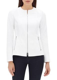 Lafayette 148 Janella Long-Sleeve Zip-Front Fundamental Bi-Stretch Jacket