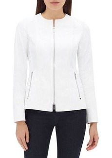 Lafayette 148 Janella Long-Sleeve Zip-Front Fundamental Bi-Stretch Jacket