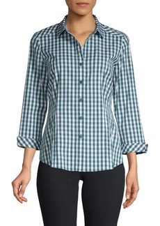 Lafayette 148 Janessa Gingham Shirt