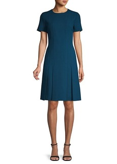 Lafayette 148 Jannie Pleated Wool Dress