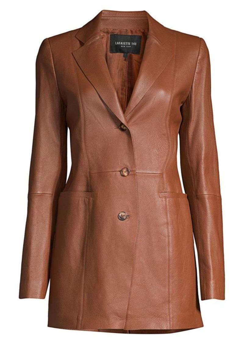 Lafayette 148 Jaqueline Leather Blazer