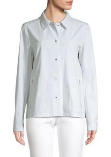 Lafayette 148 Jaren Pima Cotton Stretch Jacket