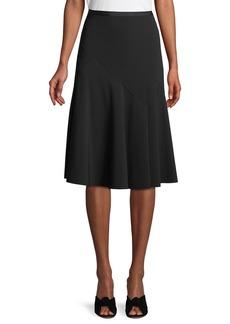 Lafayette 148 Jennifer A-Line Flutter Crepe Midi Skirt