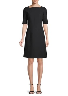 Lafayette 148 JoJo Wool Elbow Sleeve Dress