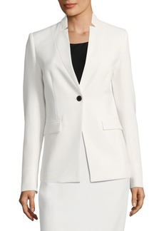 Lafayette 148 Jonelle Button-Front Jacket