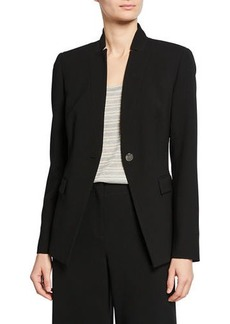 Lafayette 148 Jonelle Traditional Single-Button Blazer