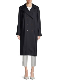 Lafayette 148 Julia Notch Collar Trench Coat