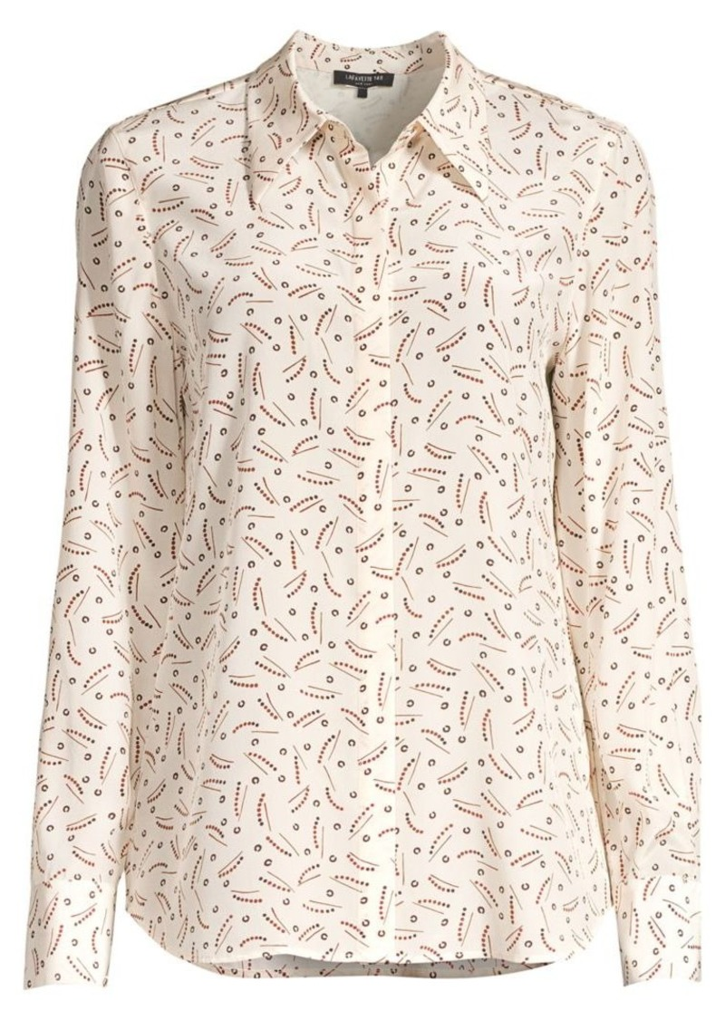 Lafayette 148 Julianne Printed Silk Blouse