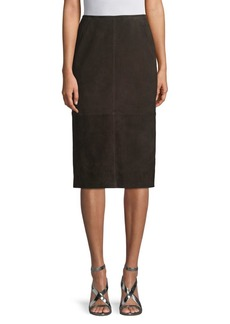 Lafayette 148 Kavita Suede Pencil Skirt