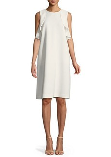 Lafayette 148 Kaydence Finesse-Crepe Ruffle Dress