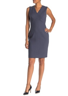 Lafayette 148 Kendal V-Neck Sleeveless Wool Sheath Dress