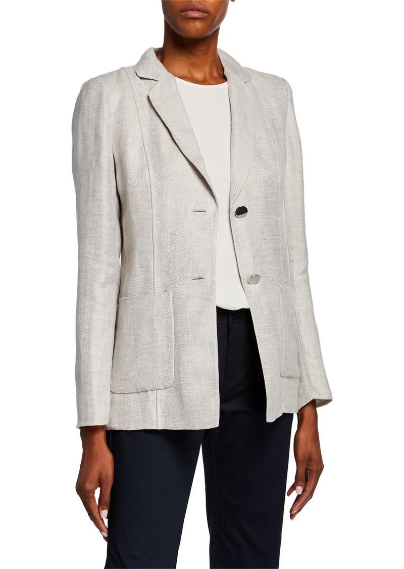 Lafayette 148 Kenley Portico Linen Jacket