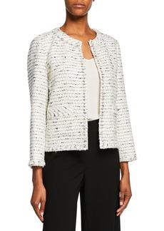 Lafayette 148 Kennedy Open-Front Tweed Jacket