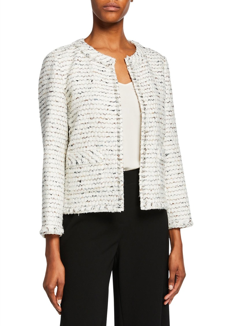 Lafayette 148 Kennedy Open-Front Tweed Jacket