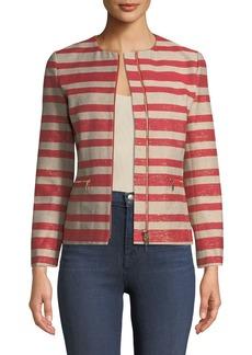 Lafayette 148 Kerrington Magna Striped Jacket