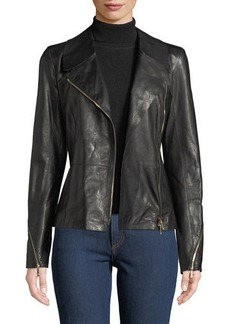 Lafayette 148 Kimbry Leather Moto Jacket