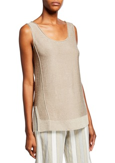 Lafayette 148 Knit Exposed Seam Tank