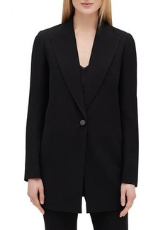 Lafayette 148 Kourt Peak-Lapel One-Button Finesse Crepe Jacket