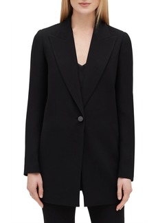 Lafayette 148 Kourt Peak-Lapel One-Button Finesse Crepe Jacket