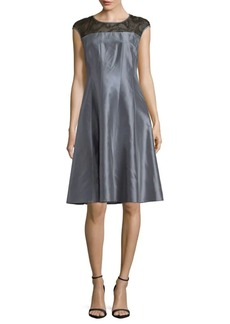 Lafayette 148 Kristen Silk A-Line Dress