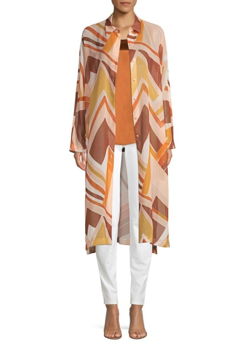 Lafayette 148 Kyrie Duster Button-Down Shirt
