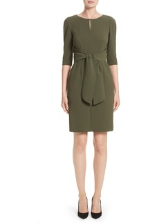 Lafayette 148 Jolie Tie Waist Crepe Dress (Nordstrom Exclusive)