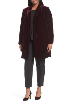 Lafayette 148 Naveah Long Velvet Jacket (Plus Size)