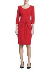 Lafayette 148 New York 3/4-Sleeve Center-Pleat Sheath Dress