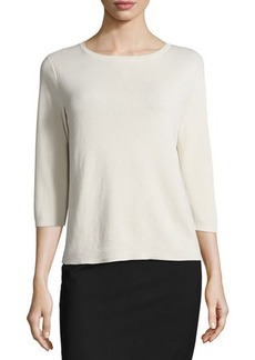 Lafayette 148 New York 3/4-Sleeve Cotton Sweater