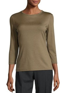 Lafayette 148 New York 3/4-Sleeve Crewneck Top