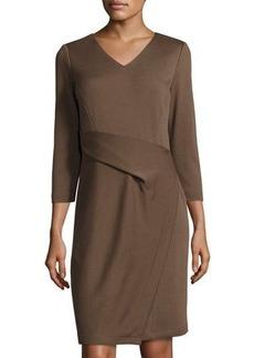 Lafayette 148 New York 3/4-Sleeve Layered Wrap Dress