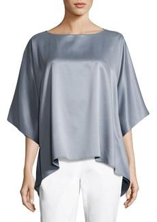 Lafayette 148 New York Abbot Chain-Trim Silk Blouse