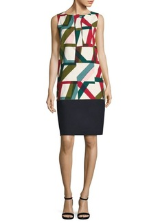 Lafayette 148 New York Abstract Geo-Print Shift Dress