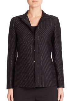 Lafayette 148 Adair Cross Sectional Pinstripe Jacket