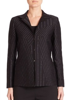 Lafayette 148 New York Adair Cross Sectional Pinstripe Jacket