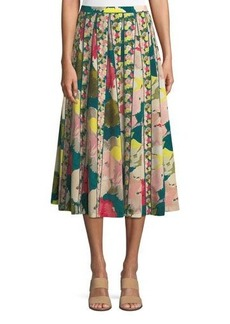 Lafayette 148 New York Adalia Floral-Print Silk Midi Skirt