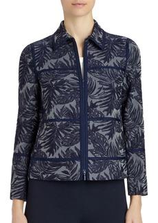 Lafayette 148 New York Adaya Palm-Print Jacket