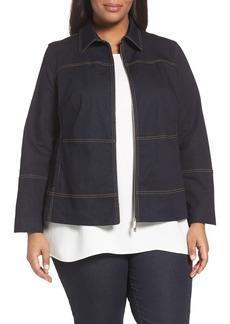 Lafayette 148 New York Adaya Primo Denim Jacket (Plus Size)