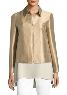 Lafayette 148 New York Adaya Silk & Cotton Shantung Jacket