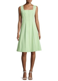 Lafayette 148 New York Adelaide Sleeveless Fit-&-Flare Dress