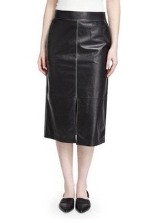 Lafayette 148 New York Adelina Lambskin Pencil Skirt