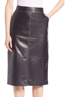 Lafayette 148 Adelina Leather Skirt
