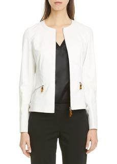 Lafayette 148 New York Adeline Leather Jacket