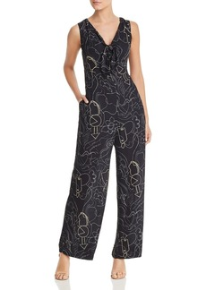 Lafayette 148 New York Adelphi Sleeveless Printed Jumpsuit